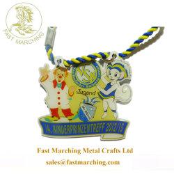Colgante medallón personalizada impresión de cinta de tela para niños día deportivo medallas
