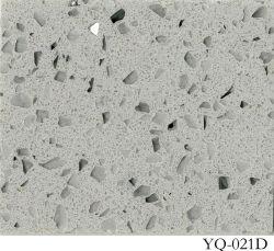 Pierre de quartz naturel poli pour comptoir/Vanitytop/Cuisine/Salle de bains/hôtel matériaux en pierre (YQ-021D)
