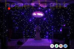 LED DMX Estrellas Centelleantes etapa tela cortina de telón de fondo de la boda