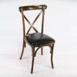 Hayedo de madera maciza de roble de banquetes del hotel de la cruz de Rattan Muebles de Comedor silla X Volver