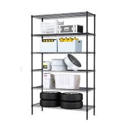Регулируемый 6 уровней для тяжелого режима работы в гараже хром металлический провод стеллажные системы для установки в стойку