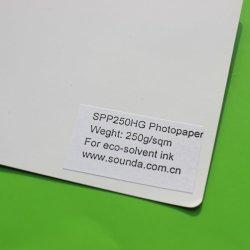 alto documento lucido della foto 250g con stampa a inchiostro del Eco-Solvente