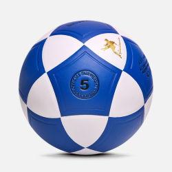 素晴らしい見る青い合成の革サッカーボール