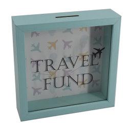 Boîte de changement de pièce de monnaie de l'argent fonds de voyage d'épargne Shadow Box