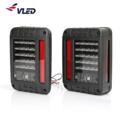 Luces LED traseras para 2007-2015 Jeep Wrangler del freno de la luz trasera trasera de la luz de marcha atrás hasta la señal de giro