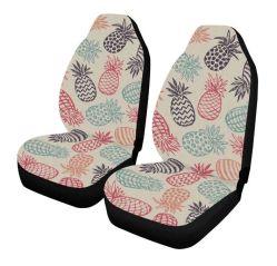 Piña dibujados a mano frutas cubiertas del asiento delantero