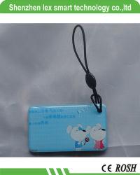 Forme personnalisé imprimé Smart Carte époxy RFID, RFID 13.56MHz en forme personnalisée de Crystal NFC Carte époxy