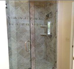 "Custom Frameless 3/8 "" porte de douche en verre trempé clair"