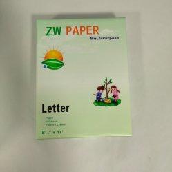 80g/m² Papel de copia de Office, tamaño A4/tamaño Carta/Papel de escritura de tamaño Legal