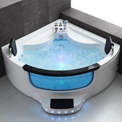 Womaの衛生製品の贅沢な温水浴槽のアクリルのジャクージの渦はジェット機で行き浸すたらいの角の浴室のマッサージの鉱泉(Q422)を