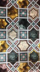 Les plus populaires Aspect lin 100% Polyester IMPRIMÉ Tissu Rideau