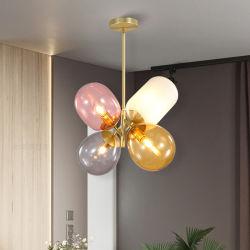 Lampada Pendant di vetro macchiato della sala da pranzo della camera da letto semplice creativa del lampadario a bracci