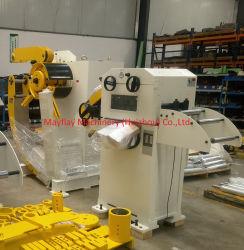 Leveler unito idraulico 2 di Uncoiler in 1 Decoiling che raddrizza macchina per la perforazione della lamiera sottile