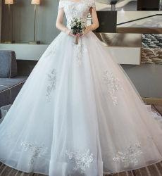 El verano hecho personalizado de encaje blanco vestido de novia vestido de novia vestido de novia