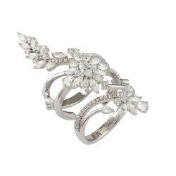 Juwelen 925 van de manier de Echte Zilveren Multifunctionele Verlovingsring van de Juwelen van de Diamant