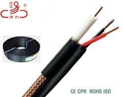 Câble de vidéosurveillance RG59 2c de la ligne électrique conducteur de la télévision par câble coaxial CCS pour l'Audio / Transmission de puissance