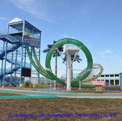 Parc Aquatique en fibre de verre d'installation Aqua boucle diapositive (WS-053)