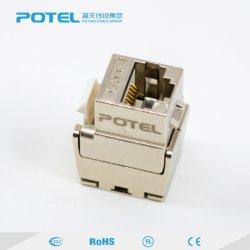 Rede Tooless Cat5e Crystal FTP o módulo do conector Keystone RJ45