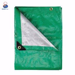 Bleu/Blanc/vert/rouge enduit imperméable en polyéthylène Heavy Duty recouvert de plastique bâche en PVC/couvercle de feuille de tissu PP/PE bâche