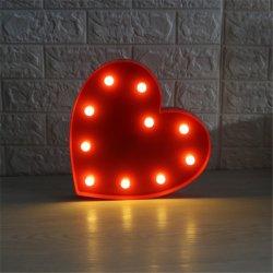 بطارية يشغل زخرفيّة خفيفة طاولة جدار [لد] قلب شكل فسطاط ليل ضوء