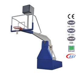 Concours professionnel Indoor pliable cerceaux de basket-ball hydraulique électrique portable