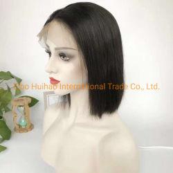 8 10 12 14 дюймов человеческого волоса Боб кружева кружева Wig передней Wig полного бразильского Virgin Реми человеческого волоса черного цвета