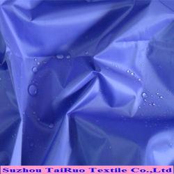 Tissu de nylon 100 % pour les vestes Tissu imperméable avec enduit PU