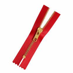 N˚ 5 extremidade fechada de bolsas de Bronze Dourado Zipper