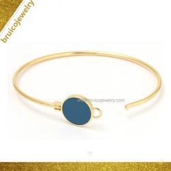 Мода украшения серебро браслет Bangle Bangle ювелирных изделий с голубой эмалью для женщин и мужчин