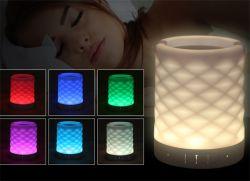 Интеллектуальная настольная лампа Bluetooth стерео звука динамика цветных ламп будильник