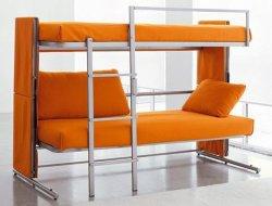 auf und ab zwei Fußboden-Wohnzimmer-Sofa-Bett