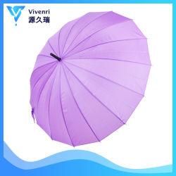 La promotion de la publicité personnalisée violet Windproof Parapluie droites de Golf