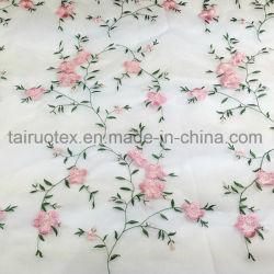 숙녀를 위한 Garment Fabric 수를 놓은 많은 실크 시퐁 직물