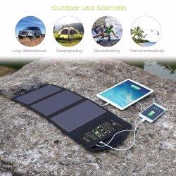 21W Sunpower faltbare USB-Handy-Energien-Bank-bewegliche Solaraufladeeinheits-Beutel-Fabrik-Vorlage