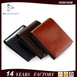 Мода Bifold держателя карты из натуральной кожи бумажник чистого кожаный кошелек