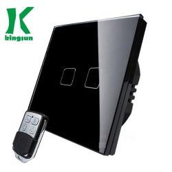 Великобритания (2G 1W) лампа пульта ДУ выберите стеклянная панель Smart переключатель белого цвета