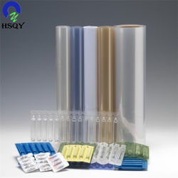 0.25mm transparente plastique épais feuille PVC PE pour la médecine de formage sous vide Package