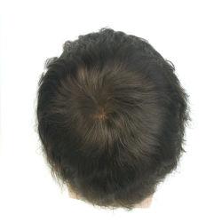 Высокое качество мужчин кружева Toupee Wig реального человеческого волоса изготовленный на заказ