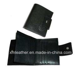 محفظة جلدية مصنوعة من الجلد بنمط ساخن محفظة للرجال جاهزة مع حامل أقراص مضغوطة