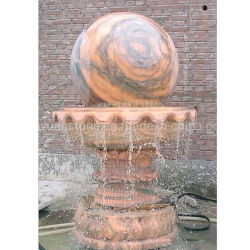 Fontana d'acqua in granito naturale con palla