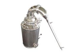 Caldeira em aço inoxidável e destilação