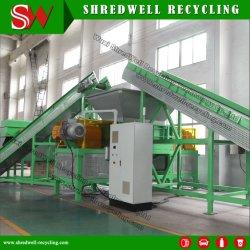 آلة إتلاف عمود مزدوج لإعادة تدوير النفايات/فرع الخشب القديم/الشجرة
