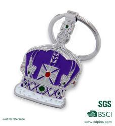 prix d'usine métalliques personnalisées pour la promotion de la chaîne de clé de la couronne (C-346)