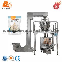 De automatische Bevroren Machine van de Verpakking van de Bal van de Vissen van de Kip van de Bol Verpakkende