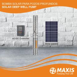 Maxis High Flow AC/DC Solar water Pump Electric voor Diepe put met MPPT-controller