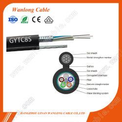 Outdoor GYTC 2-144 coeurs8s en mode unique câble à fibre optique étanche