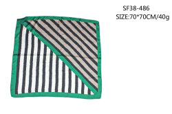 녹색은 밴대나 목 스카프 니스 직물 많은 실크 감각 여름 가을을 줄무늬로 한다