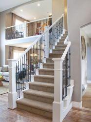 С другой стороны высокого качества поддельных лестница из кованого железа с возможностью горячей замены ограждения стальные Galvanzied DIP пятно лестницы ограждения поручень для Satey