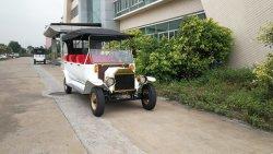 Turismo de luxo aluguer de cor preta 8 Lugares Vintage Veículo Eléctrico