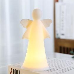 2021 Nice keramiek bidden kerstfeest LED licht porselein Home Decoratie Decoratieve hand-geschilderde vleugel Engel beeldhouwkunst Memorial Statue Cijfers